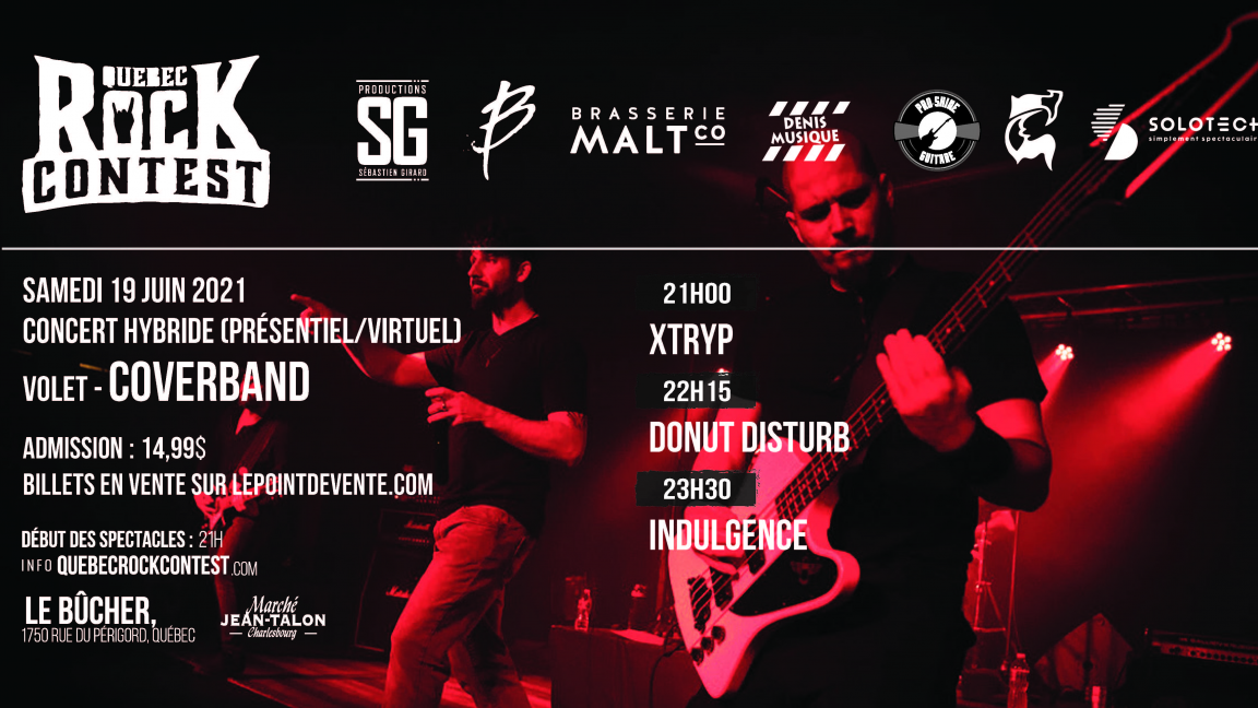Concert virtuel : Xtryp, Donut Disturb & Indulgence