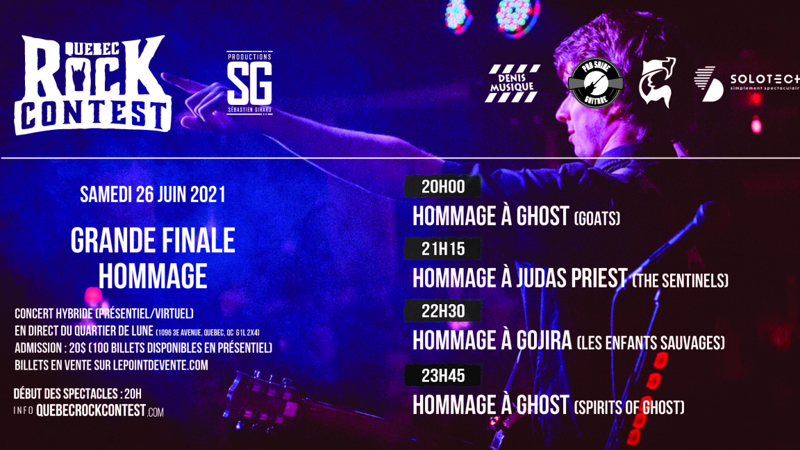 Concert en virtuel : Ghost (Goats), Judas Priest (The Sentinels), Gojira (Les Enfants Sauvages) & Ghost (Sprits of Ghost)