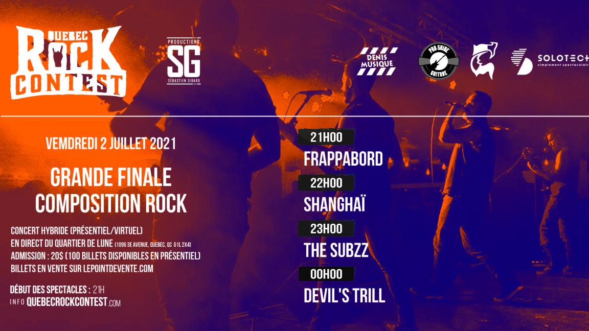 Concert en présentiel : Frappabord, Shanghaï, The Subzz & Devil's Trill
