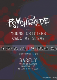 Psychocide 呈獻 Punk N' Roll Night: Psychocide – 2017年02月18日 – The Barfly, Montreal, QC