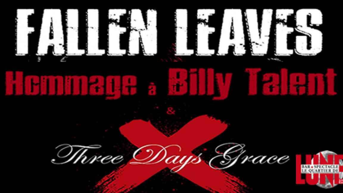 BILLY TALENT / 3 DAYS GRACE TRIBUTE
