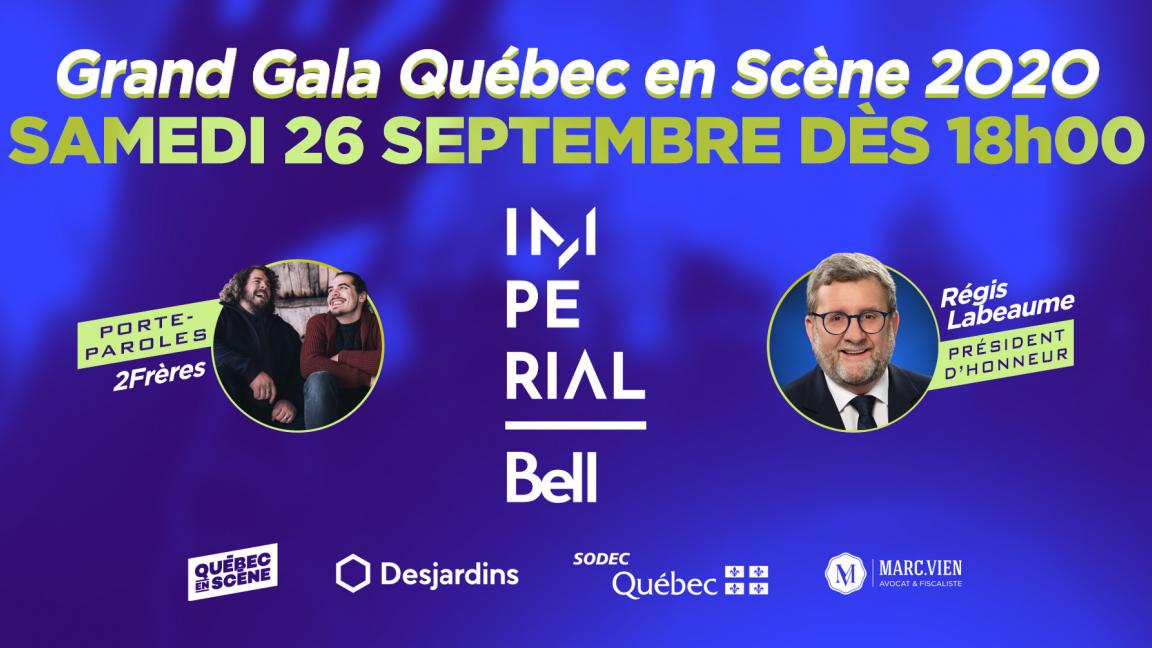 Grand Gala Québec en Scène 2020 (VIRTUEL) GRATUIT