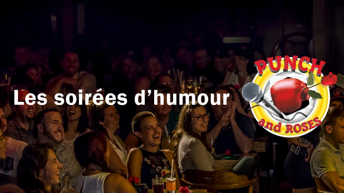 Soirée d'humour Punch & Roses à Montréal