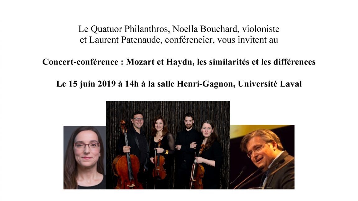 Quatuor Philanthros: concert-conférence sur Mozart et Haydn, les différences et similarités