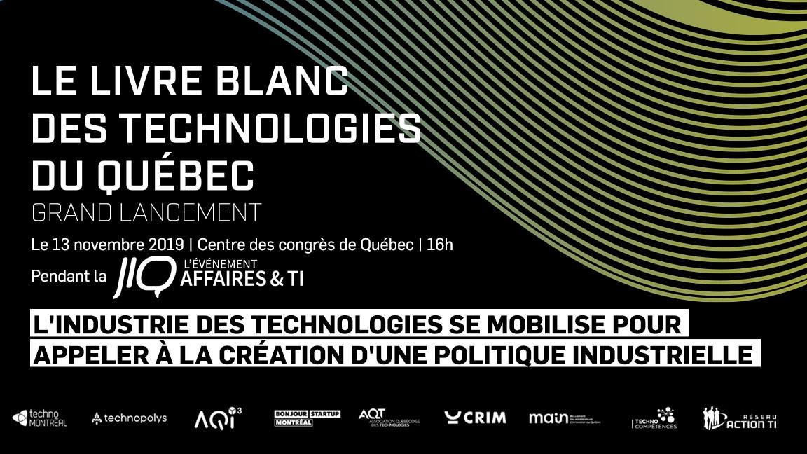Grand lancement du Livre Blanc à la JIQ L'ÉVÈNEMENT AFFAIRES & TI