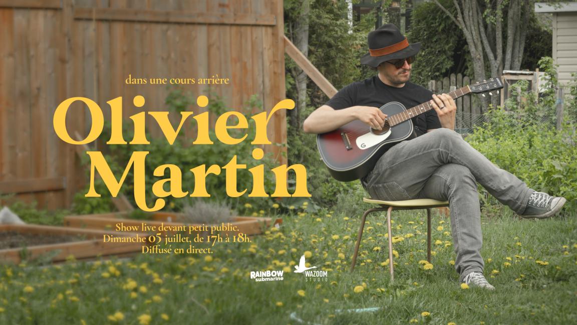 Olivier Martin, dans une cour arrière