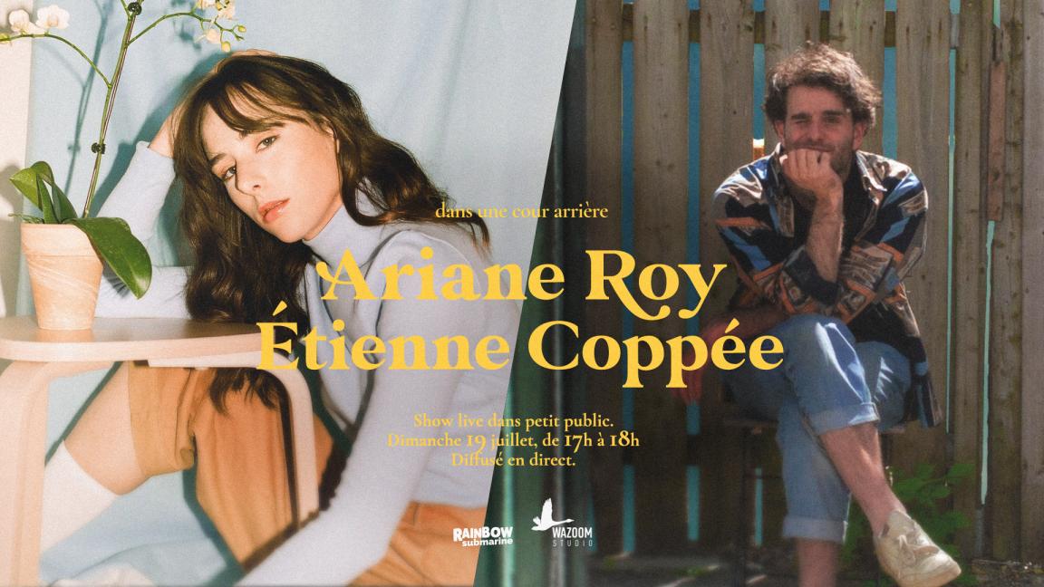 Ariane Roy + Étienne Coppée, dans une cour arrière
