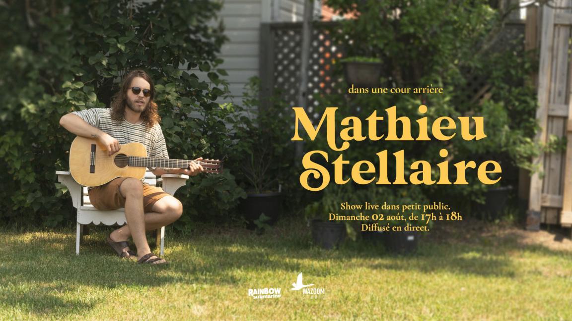 Mathieu Stellaire, dans une cour arrière
