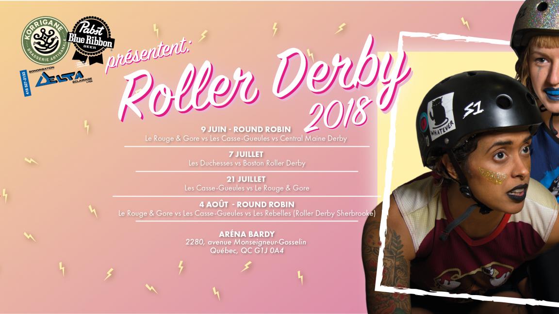 ✨ Roller Derby Québec reçoit Central Maine Derby ✨