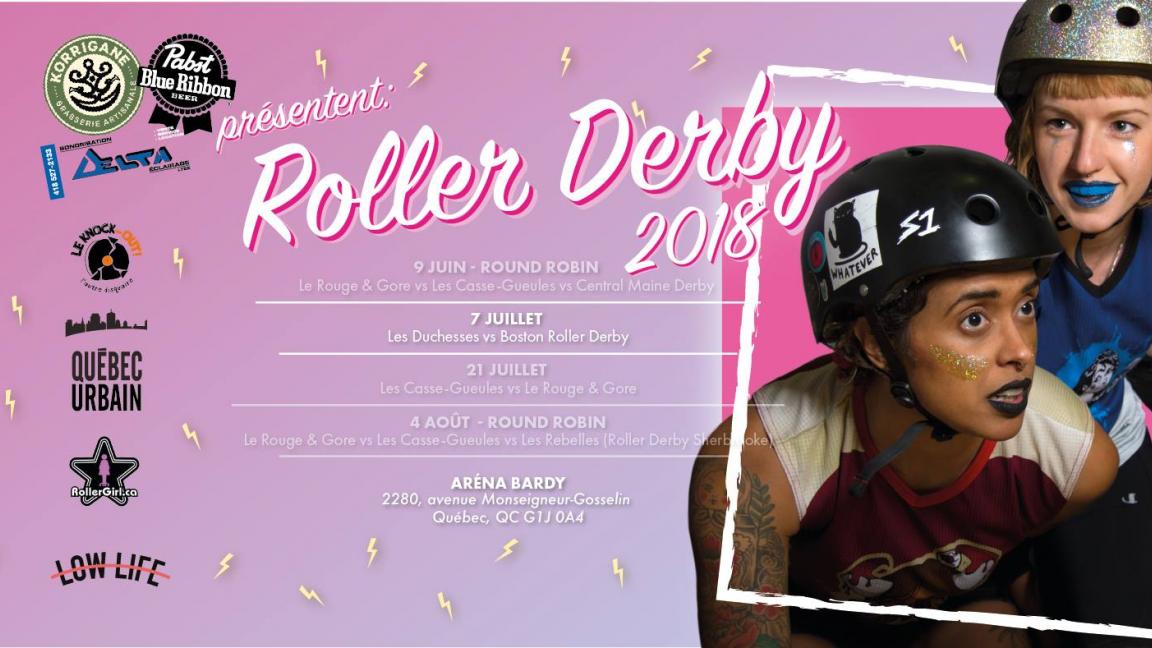 Roller Derby Québec reçoit Boston Roller Derby