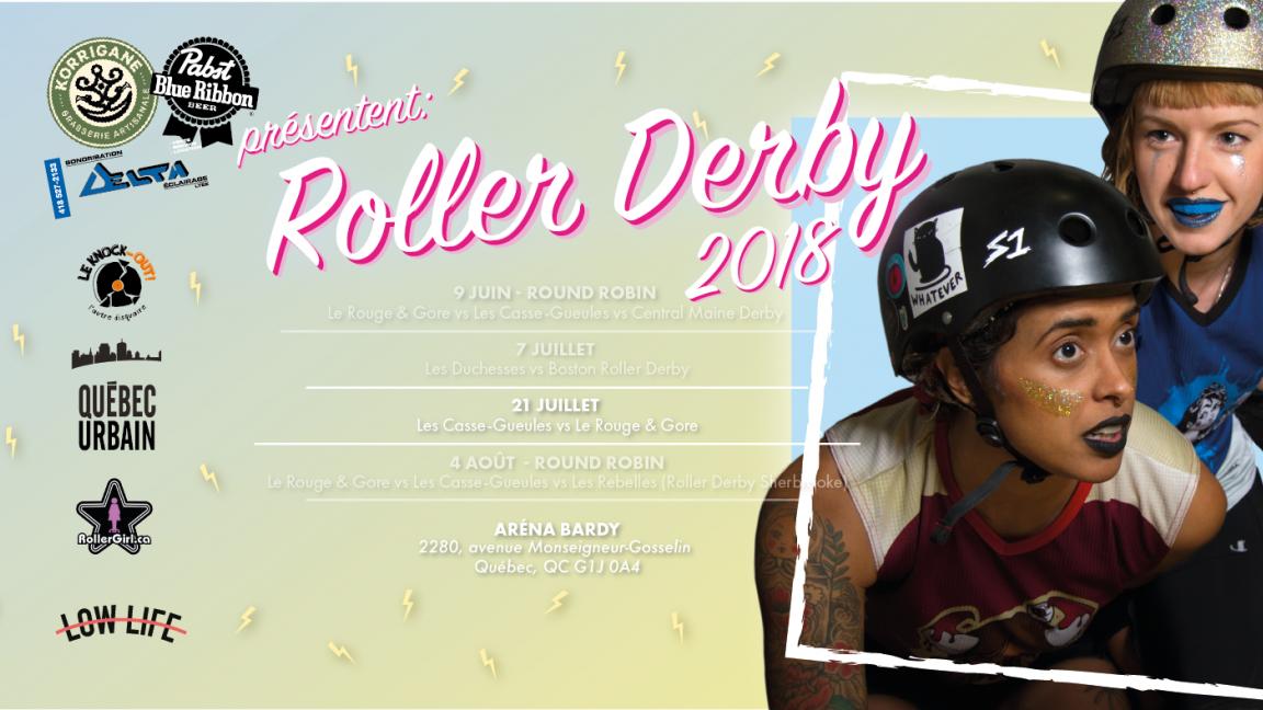 Roller Derby Québec - Casse-Gueules vs Rouge & Gore
