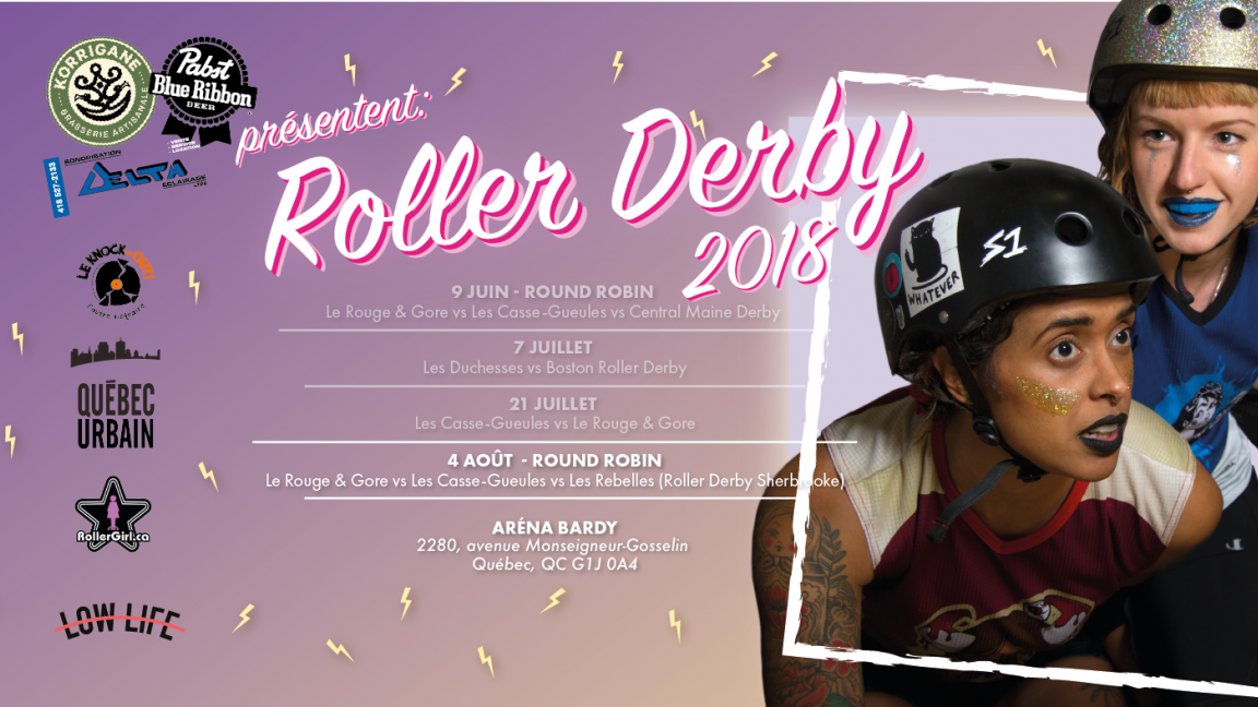 Roller Derby Québec reçoit Roller Derby Sherbrooke