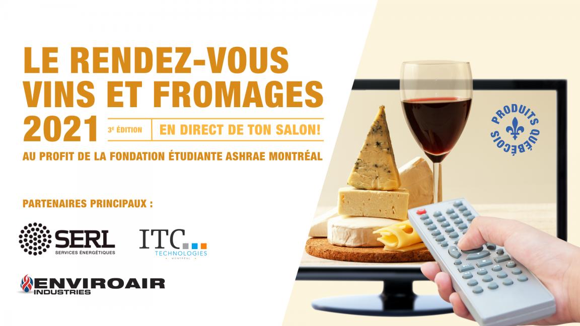 Le rendez-vous vins et fromages ASHRAE Montréal 2021