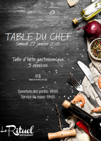 Table du Chef