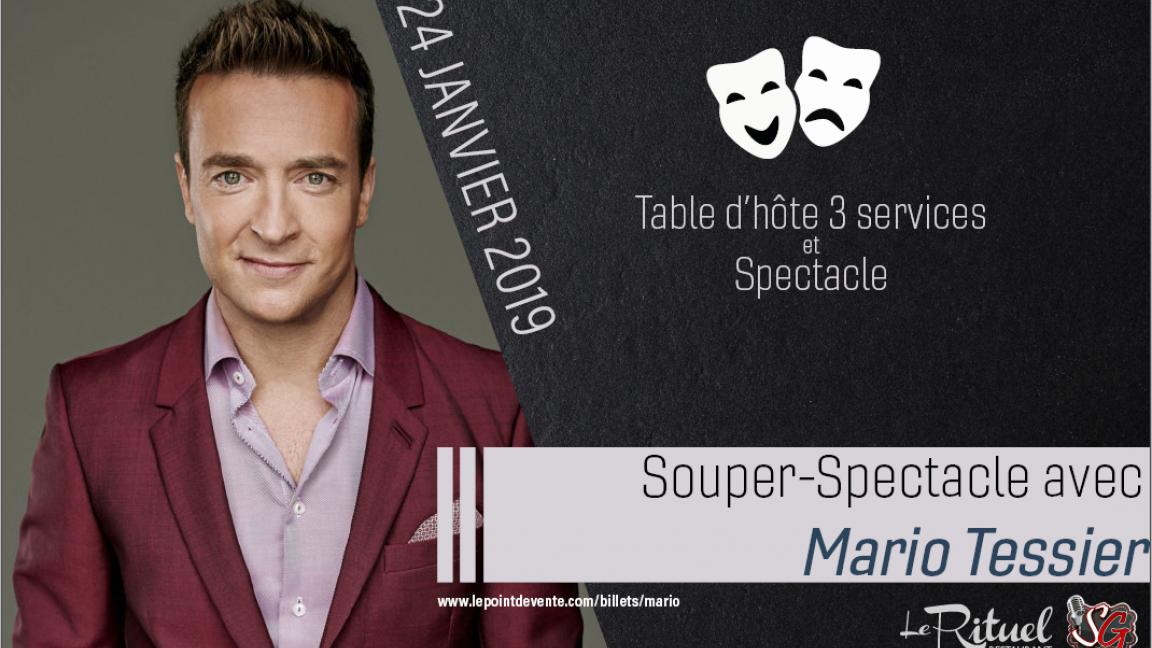 Souper/Spectacle d'humour avec Mario Tessier