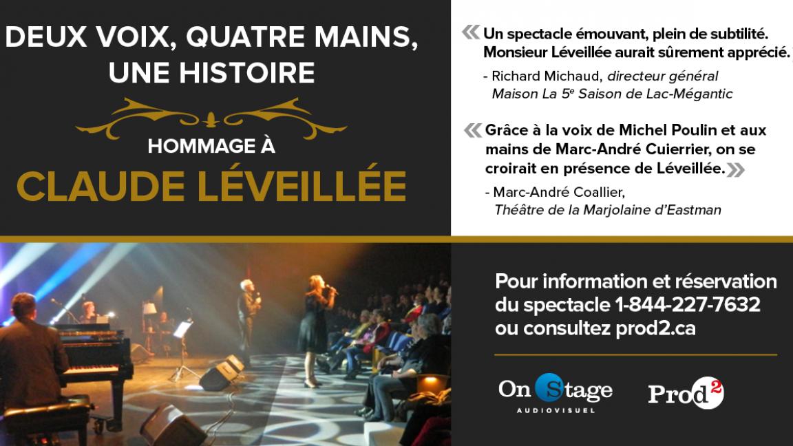 Spectacle bénéfice Hommage à Claude Léveillée (Virtuel)