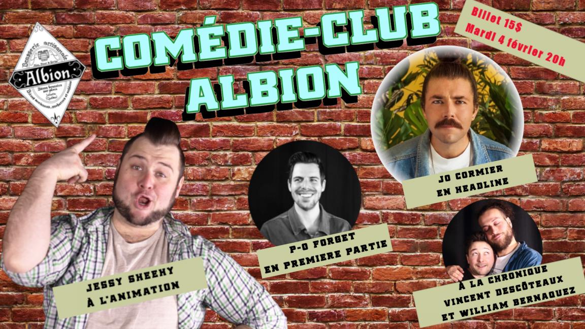 Comédie Club  Albion: Jo Cormier