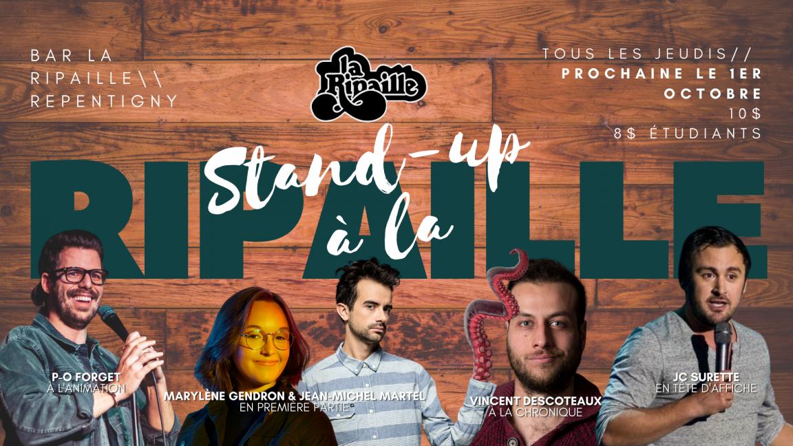 Stand-up à La Ripaille présente JC Surette!