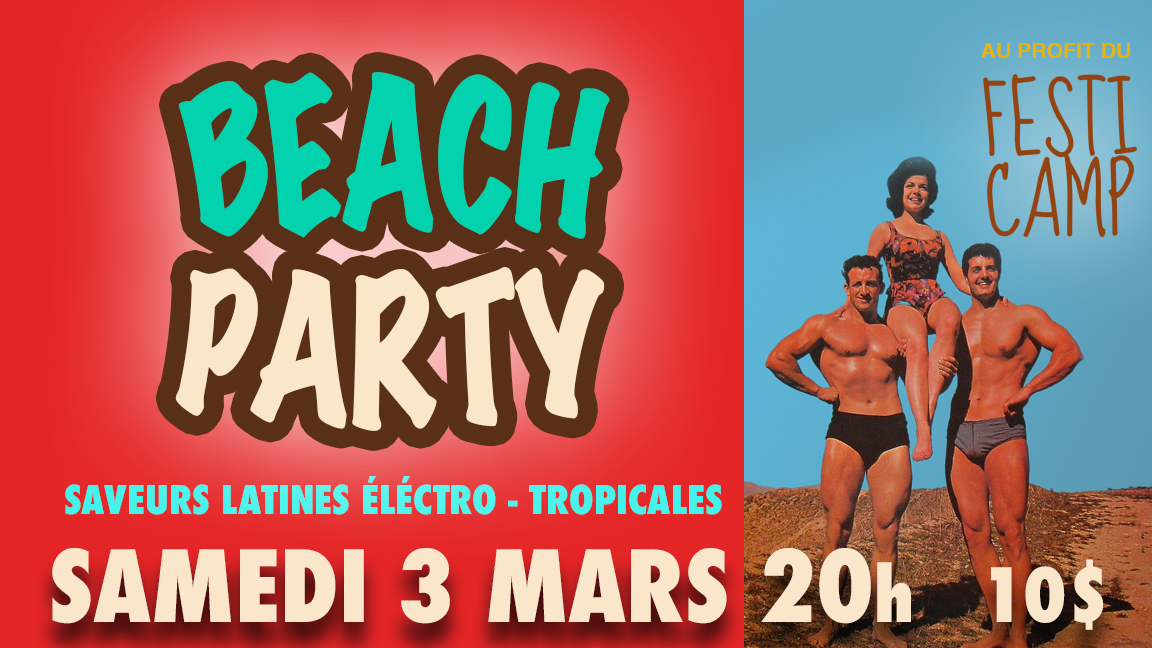 Beach Party au profit du Festi-Camp