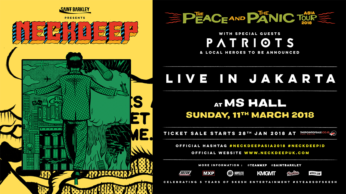 THE PEACE AND THE PANIC ASIA TOUR 2018