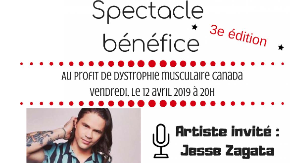 Spectacle Bénéfice au profit de la Dystrophie musculaire avec Jesse Zagata