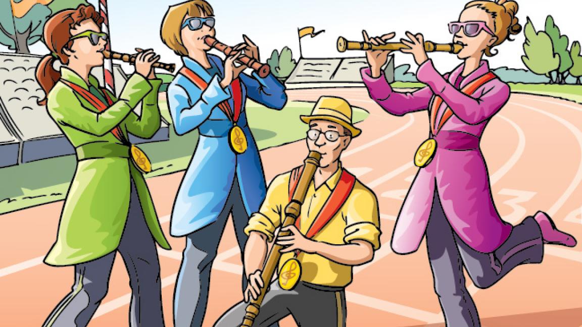 Les athlètes de la flûte à bec (JMC)