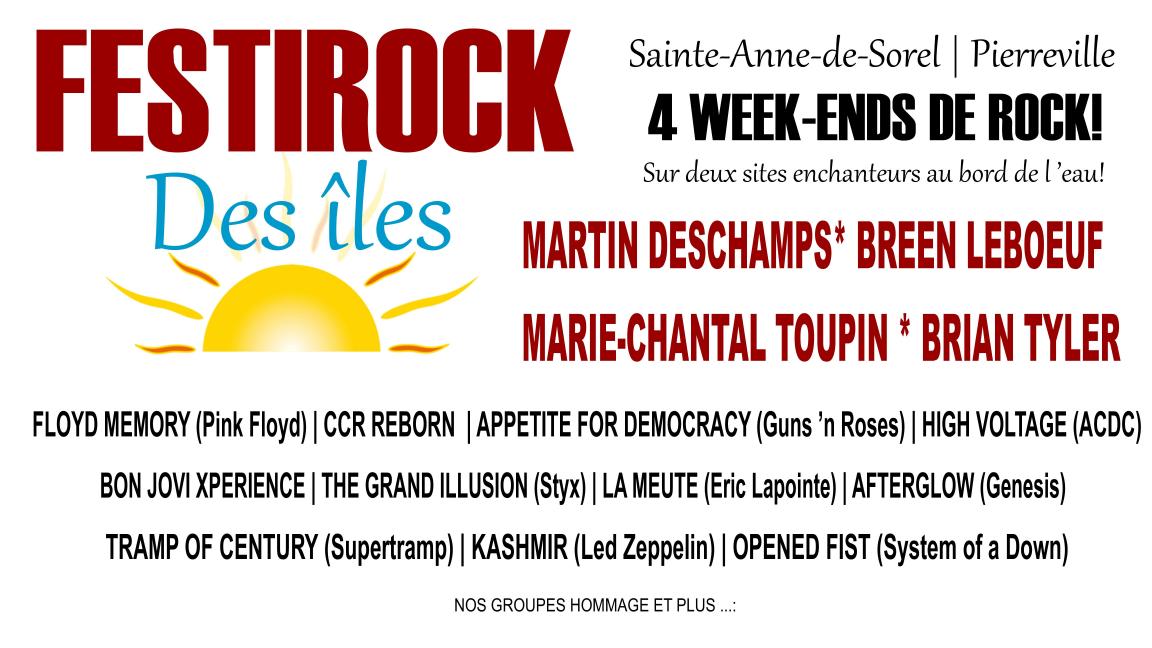 Festirock des îles de Saint-Anne de Sorel et Pierreville : Passe Week-end