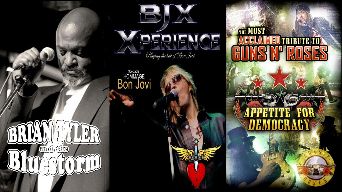 Festirock des îles: Brian Tyler | Bon Jovi Xperience | Guns'n Roses par Appetite for Democracy