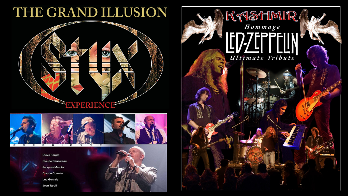 Festirock des îles: The Grand Illusion Styx Experience | Kashmir l'ultime hommage à Led Zeppelin