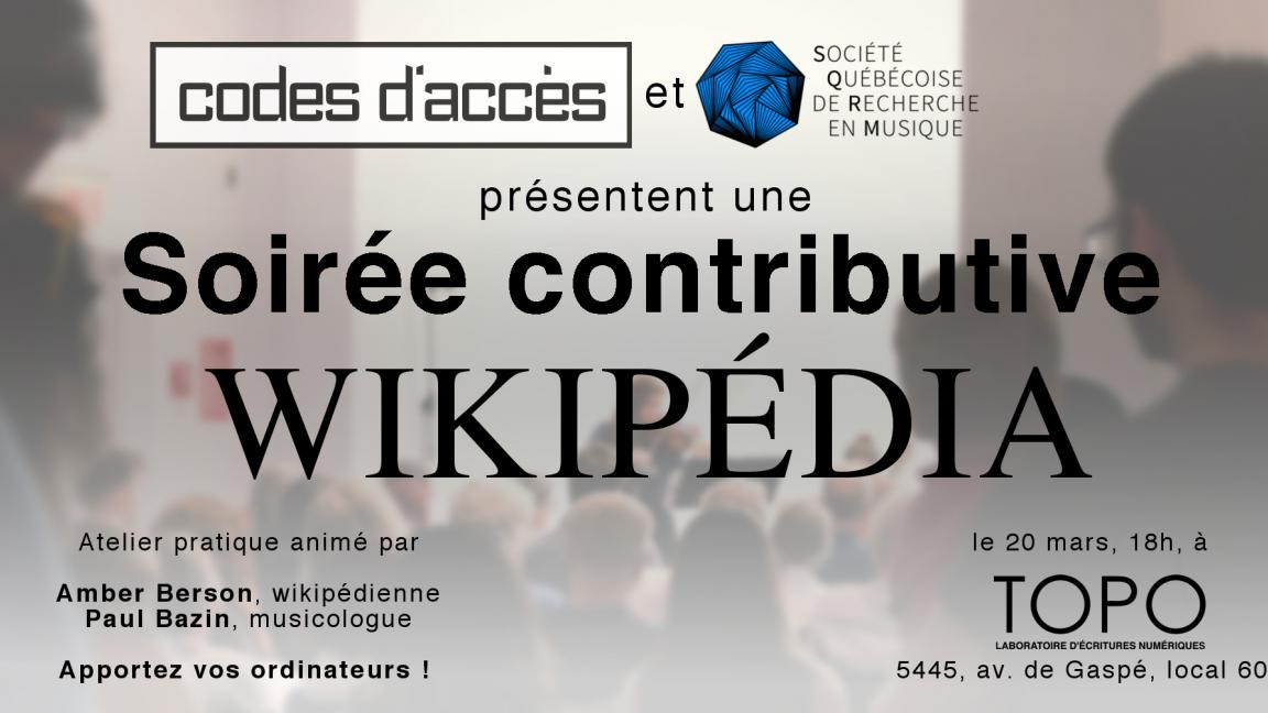 Soirée contributive Wikipédia