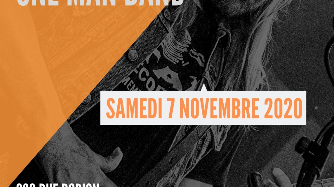 Steve Hill - One man band - Reporté au 7 novembre 2020