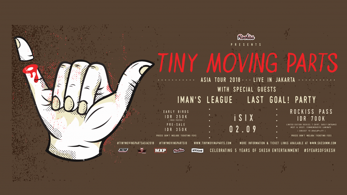 Tiny Moving Parts Live in Jakarta 2018