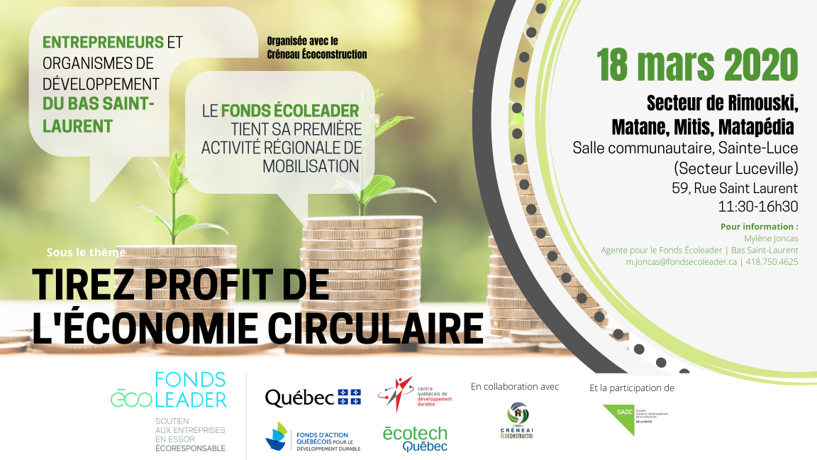 Tirez profit de l'économie circulaire | Sainte-Luce