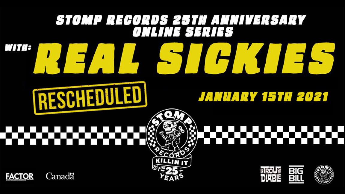 Stomp Records 25th Anniversary Online Series w/ Real Sickies