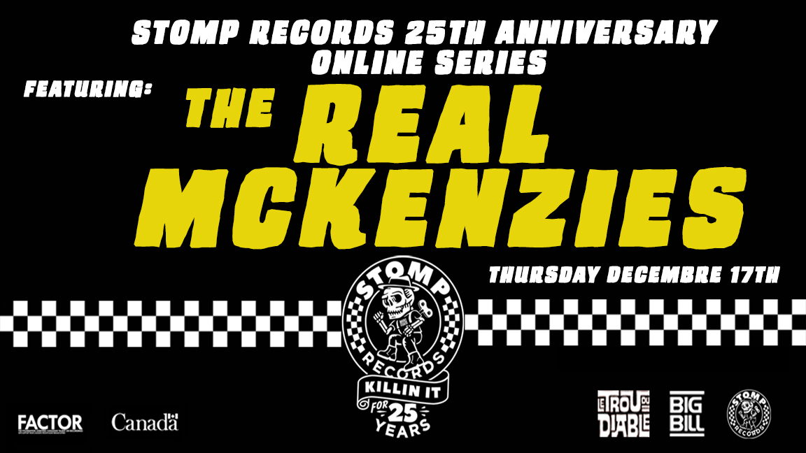Stomp Records 25th Anniversary Online Series w/ The Real McKenzies