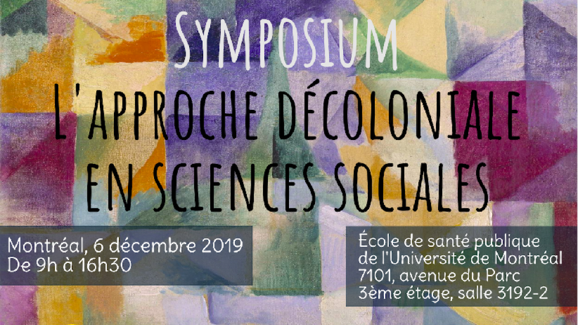 Symposium sur l'approche décoloniale en sciences sociales