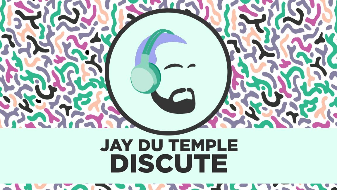 Jay Du Temple discute sur scène