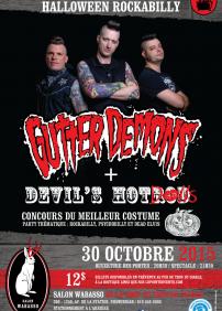 Party d'Halloween avec GUTTER DEMONS & DEVIL'S HOTROD
