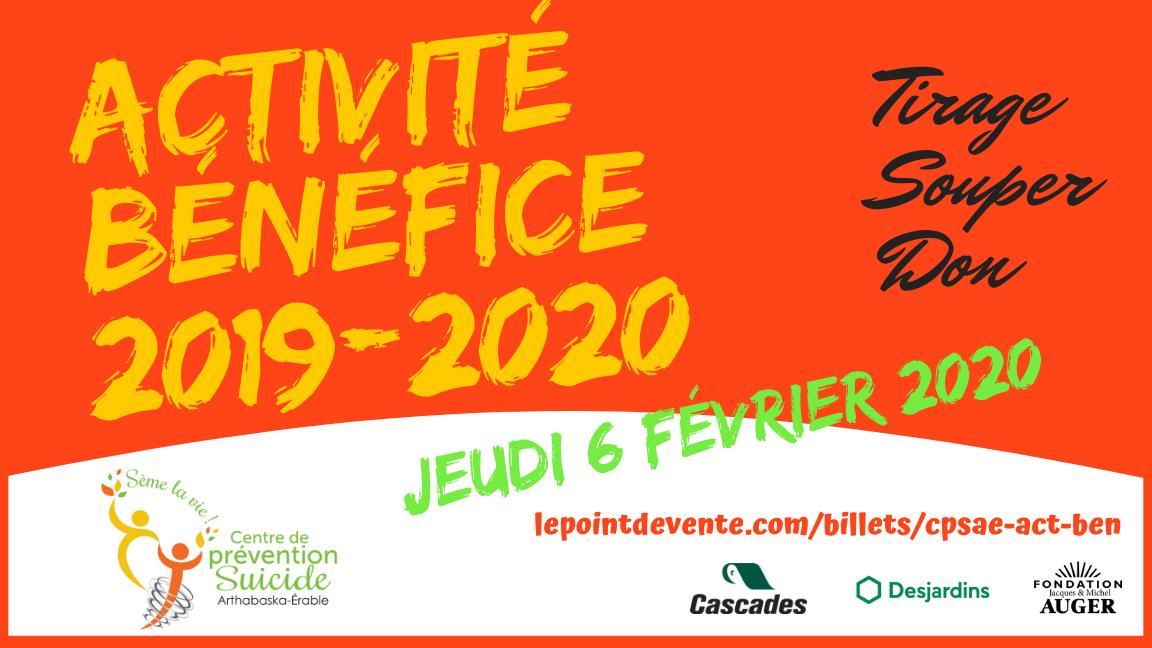Activité-bénéfice 2019-2020
