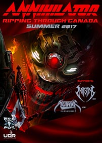 Greenland & evenko present Annihilator – June 29th 2017 – Café Campus, Montreal, QC