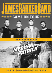 Greenland & evenko présentent JAMES BARKER BAND 'GAME ON TOUR' – 14 janvier 2018 – Café Campus, Montréal, QC