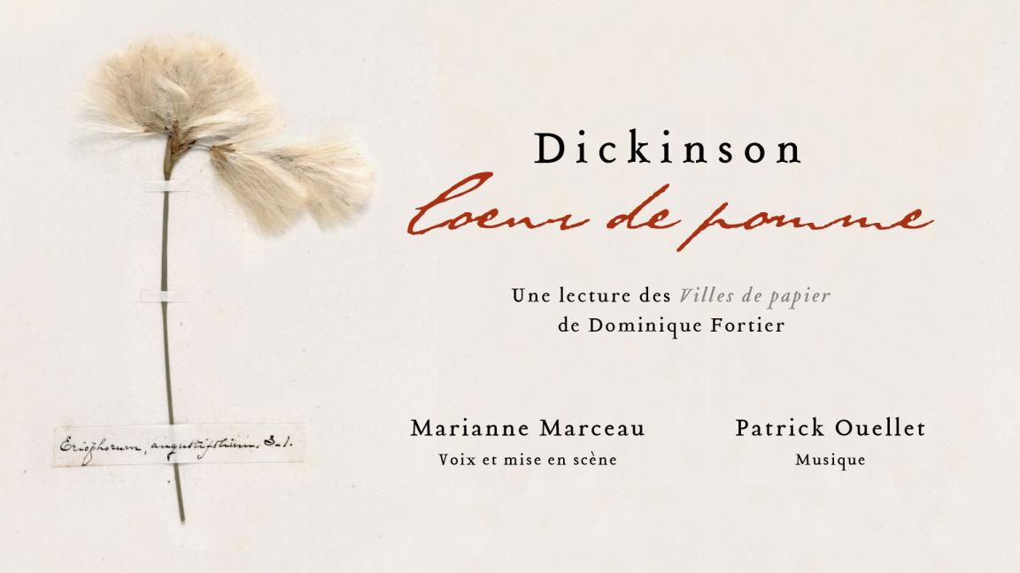 Dickinson, cœur de pomme : une lecture des Villes de papier de Dominique Fortier