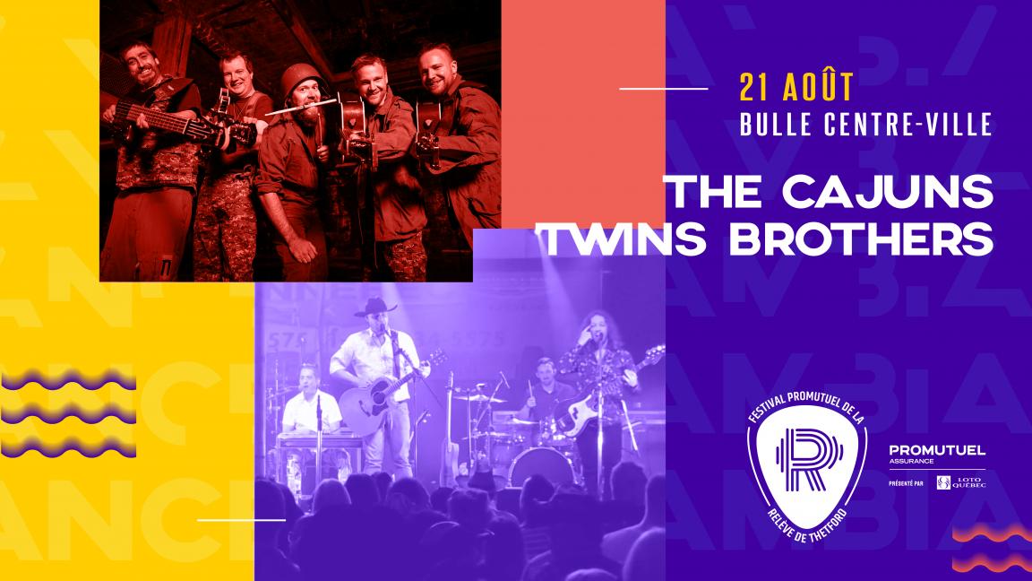 SAMEDI - CENTRE-VILLE | Les Twin Brothers + The Cajuns