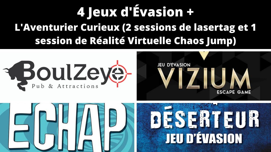 Passeport Jeux Évasion et VR de l'Est de Montréal 40% de rabais