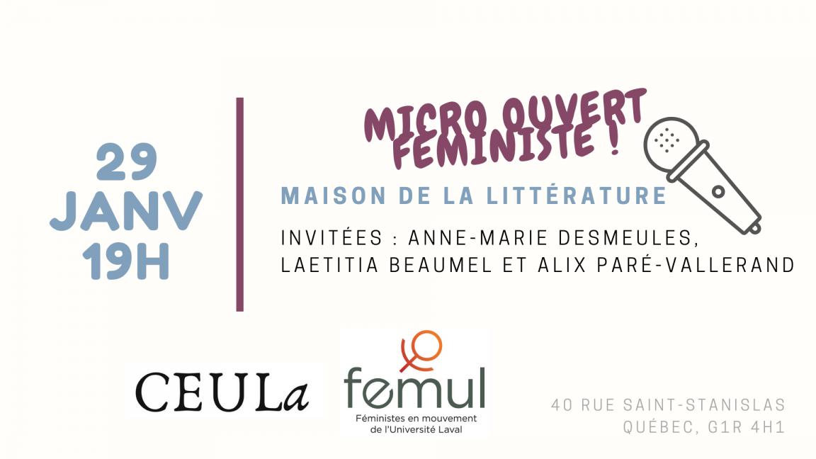 Micro Ouvert Féministe