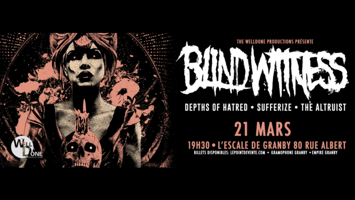 The WellDone Productions présente Blind Witness