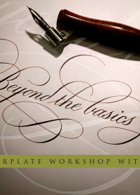 Copperplate Calligraphy workshop with Kong