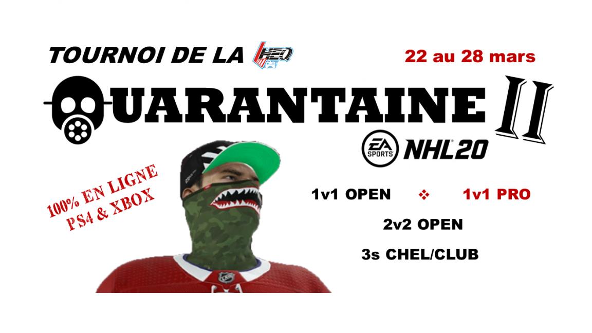 Tournoi de la Quarantaine II (22 au 28 mars)