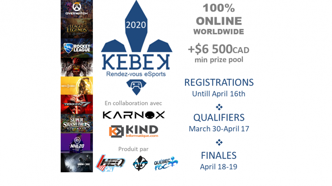 KEBEK, rendez-vous eSports