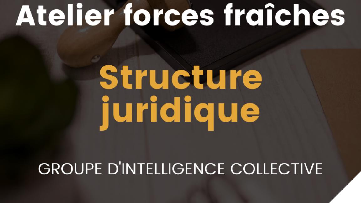 Forces fraîches - Atelier Structure juridique